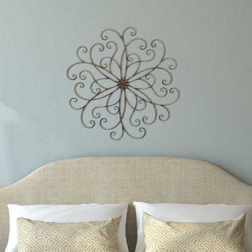 Stratton Home Decor Swirl Metal Wall Art