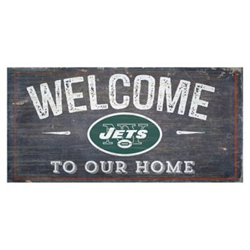 New York Jets Distress Welcome Sign