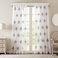 Bombay Massa Embroidered Sheer Curtain