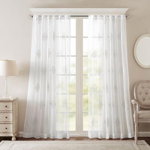 Bombay Massa Embroidered Sheer Window Curtain