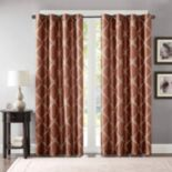 Bombay 1-Panel Teramo Embroidered Polyoni Window Curtain