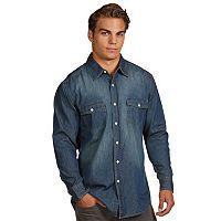 Men's Antigua Modern-Fit Chambray Button-Down Shirt