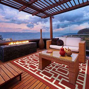 StyleHaven Maritime Blocks & Lines Indoor Outdoor Rug