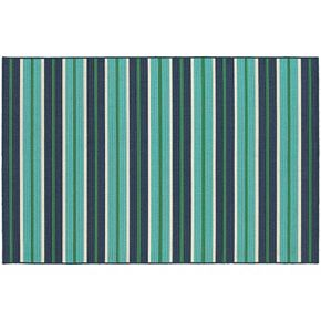 StyleHaven Maritime Linear Stripes Indoor Outdoor Rug