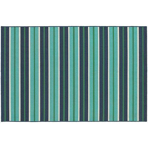 StyleHaven Maritime Linear Stripes Indoor Outdoor Rug