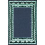 StyleHaven Maritime Bordered Traditional Indoor Outdoor Rug