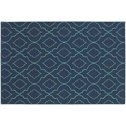 StyleHaven Maritime Simplicity Lattice Indoor Outdoor Rug