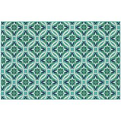 StyleHaven Maritime Botanical Chains Indoor Outdoor Rug