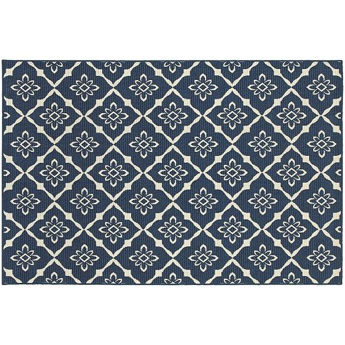 StyleHaven Maritime Floral Lattice Indoor Outdoor Rug