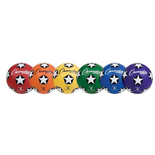 Youth Champion Sports Rubber Cover Size 5 Soccer Ball Set