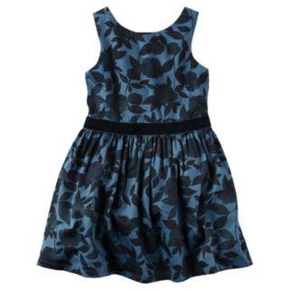 Toddler Girl Carter's Navy & Velvet Dress