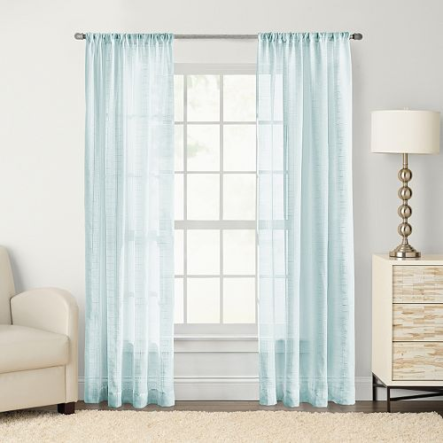 SONOMA Goods for Life™ Maison Windowpane Sheer Window Curtain