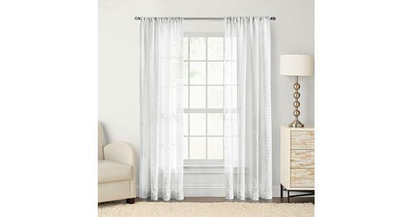 Sonoma Goods For Life Maison Windowpane Sheer Curtain