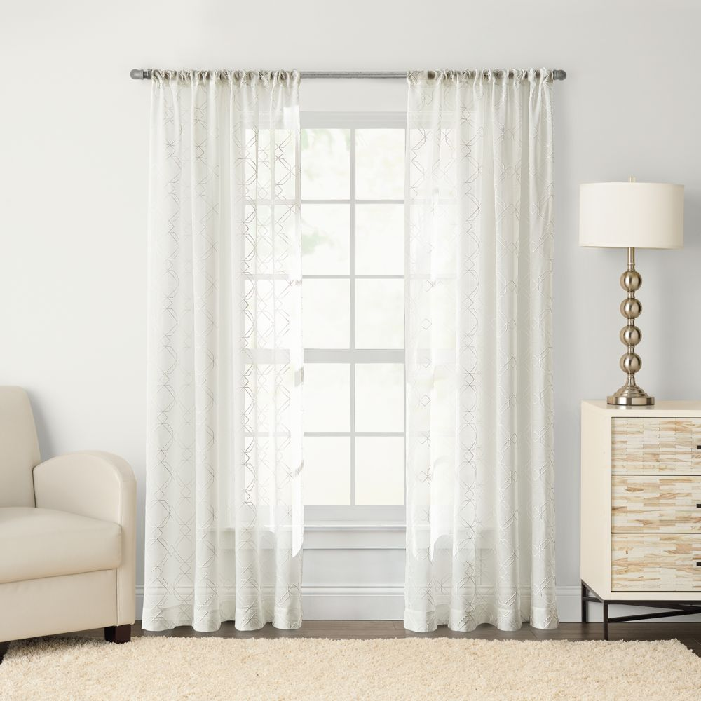 goods for life™ astro embroidered sheer curtain