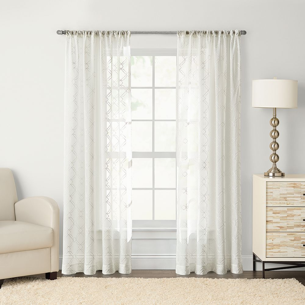 SONOMA Goods For LifeTM Astro Embroidered Sheer Window Curtain