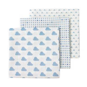 giggle 3-pk. Cloud & Polka-Dot Muslin Swaddle Blankets