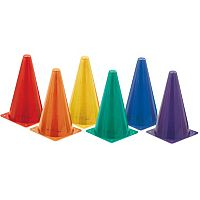 Champion Sports 9 in High Visibility Multicolor Plastic Cone Set