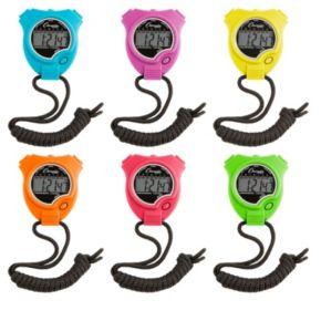 Champion Sports 6-Pc. Neon Multicolor Stop Watch Set
