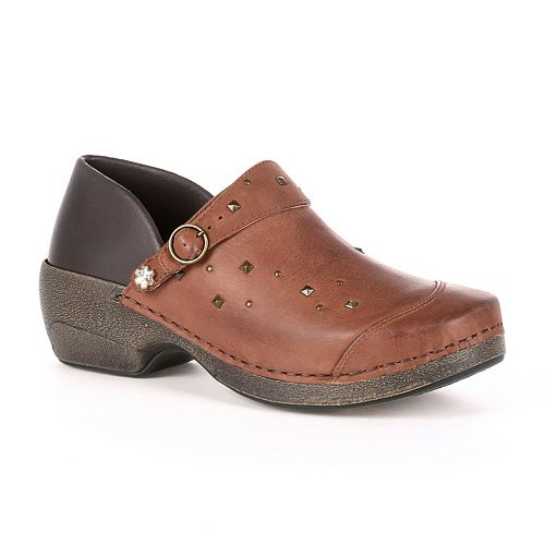 Rocky 4EurSole Inspire Me Women's Studded Leather 3-in-1 Clogs
