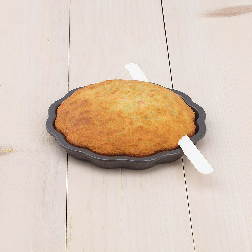 Sweet Creations 3-pc. Nonstick Scallop Layered Cake Pan Set