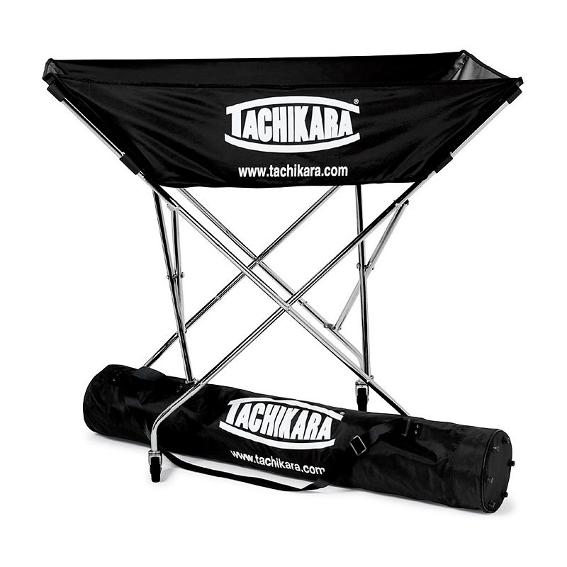 Tachikara Hammock Volleyball Cart with Nylon Carry Bag, Black Round up volleyballs at practice and keep them organized with this Tachikara hammock volleyball cart. Sturdy, galvanized steel frame Holds 24 balls Collapsible design Includes: nylon hammock & carrying bag Imported Manufacturer's limited 2-year warranty For warranty information please click here MODEL NUMBERS Black: BC-HAM Navy: BC-HAM.NY Royal: BC-HAM.RY Scarlet: BC-HAM.SC  Size: One Size. Gender: unisex. Age Group: adult.