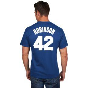 Men's Majestic Brooklyn Dodgers Jackie Robinson Player Tee