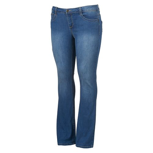 c4b787d5cf0 Juniors  Plus Size Mudd® FLX Stretch Faded Skinny Bootcut Jeans