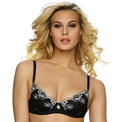 Jezebel Bra: Demure Lace Unlined Balconette Bra 10039