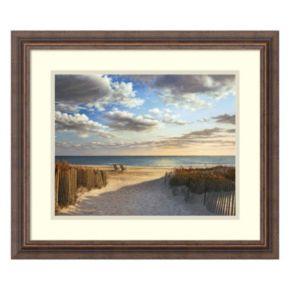 Amanti Art Sunset Beach Framed Wall Art