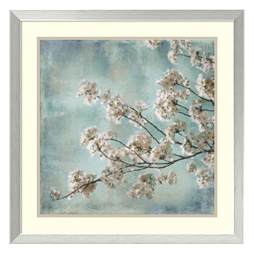 Amanti Art Aqua Blossoms I Framed Wall Art