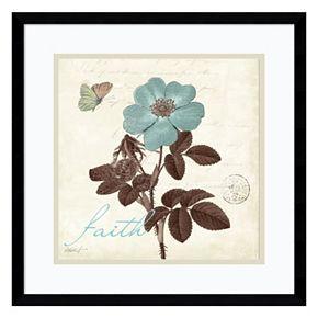 """Amanti Art Touch of Blue II """"Faith"""" Framed Wall Art"""