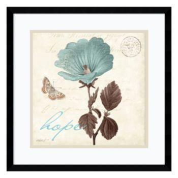 "Amanti Art Touch of Blue III ""Hope"" Framed Wall Art"