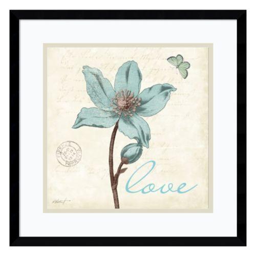 Amanti Art Touch of Blue IV Love Framed Wall Art