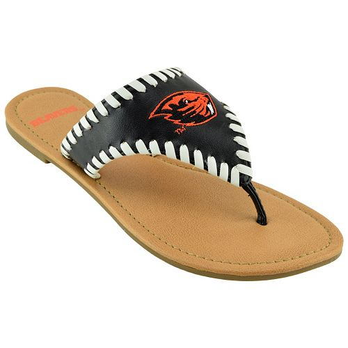 Women's Oregon State Beavers Stitched Flip-Flops