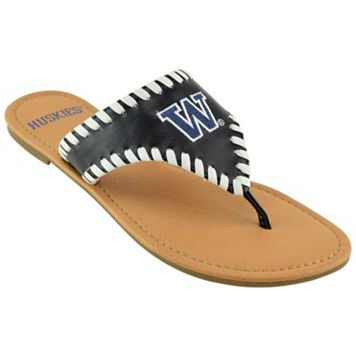 Women's Washington Huskies Stitched Flip-Flops