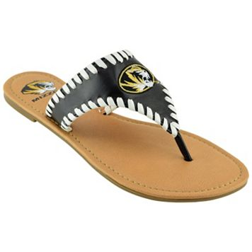 Women's Missouri Tigers Stitched Flip-Flops