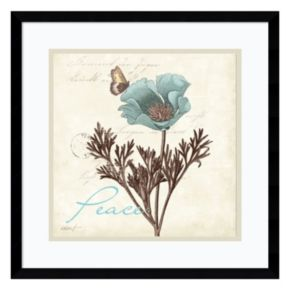 """Amanti Art Touch of Blue I """"Peace"""" Framed Wall Art"""