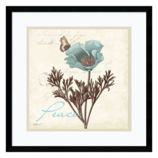 "Amanti Art Touch of Blue I ""Peace"" Framed Wall Art"