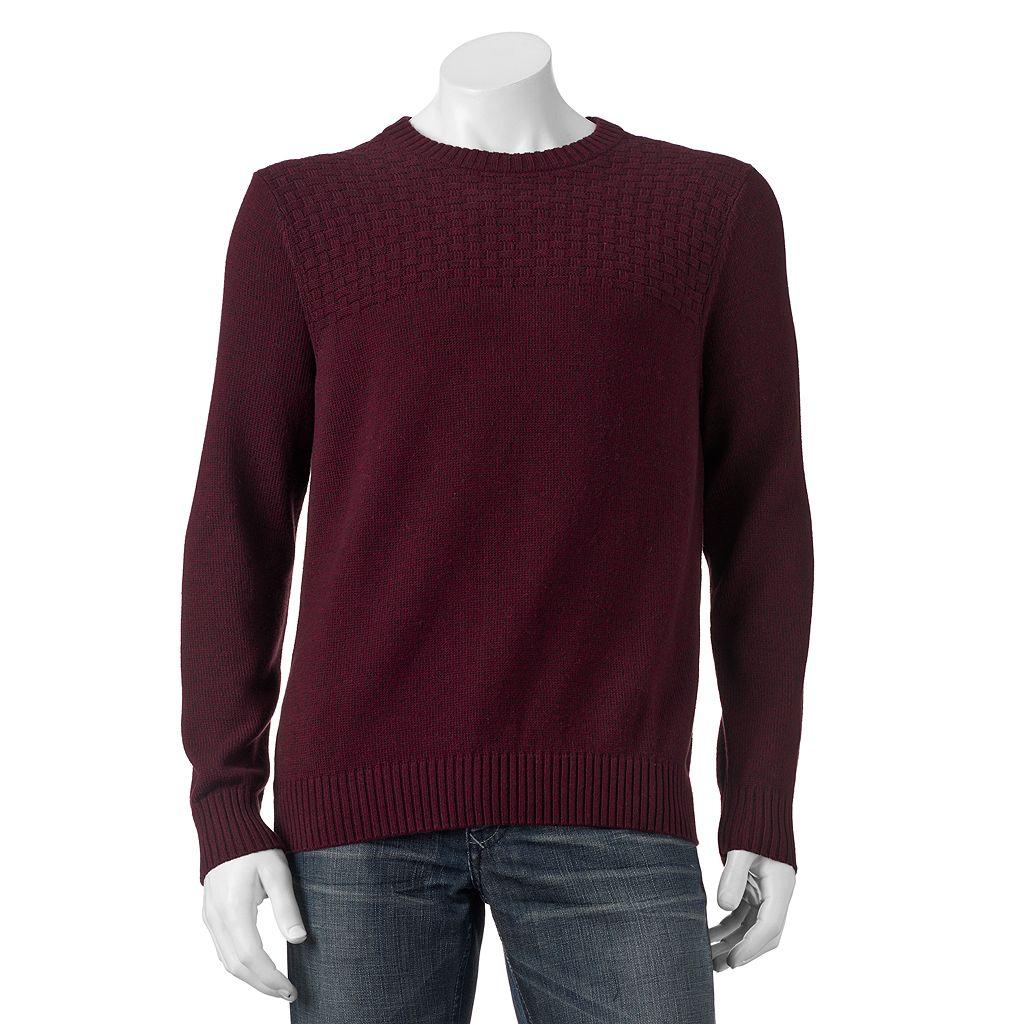 Big & Tall Croft & Barrow® Basketweave Crewneck Sweater