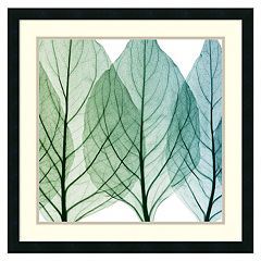 Amanti Art Celosia Leaves II Framed Wall Art