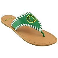 Women's Oregon Ducks Stitched Flip-Flops