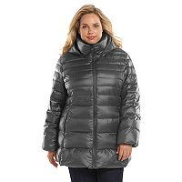 Andrew Marc Plus Size Hooded Down Puffer Jacket