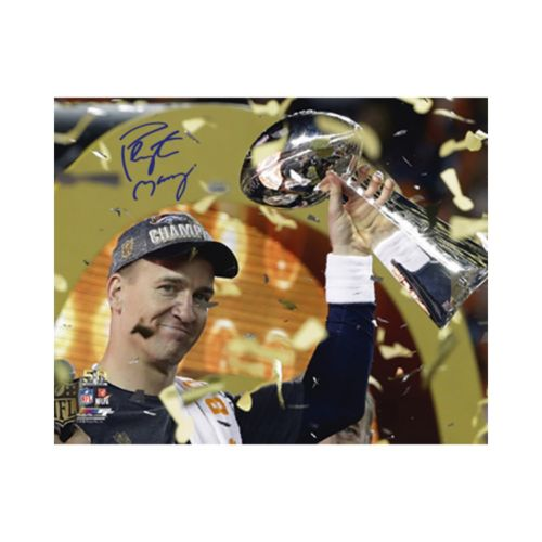Steiner Sports Denver Broncos Payton Manning Super Bowl 50 Celebration 8″ x 10″ Signed Photo