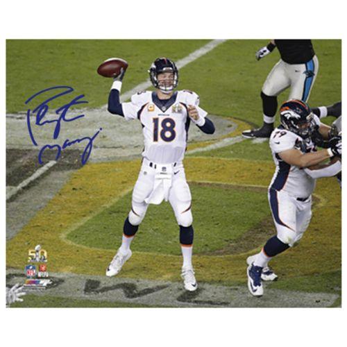 Steiner Sports Denver Broncos Payton Manning Super Bowl 50 Passing 16 x 20 Signed Photo