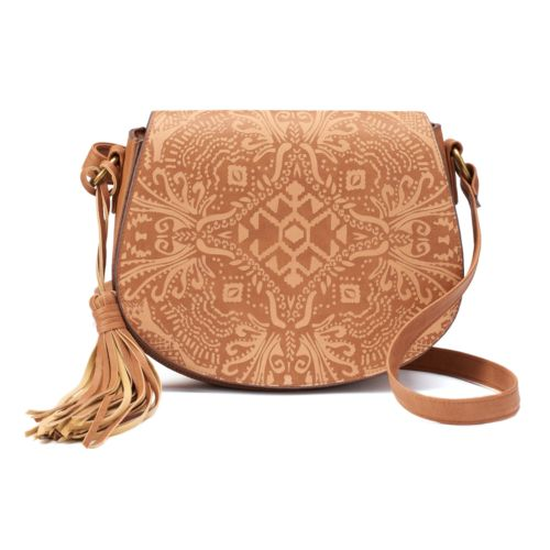 SONOMA Goods for Life™ Embossed Abstract Crossbody Saddle Bag