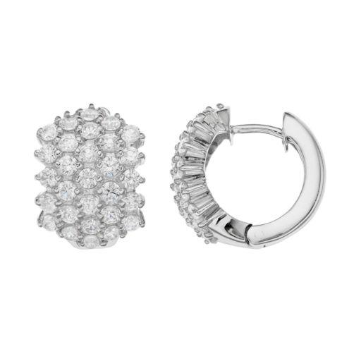 Sophie MillerSterling Silver Cubic Zirconia Huggie Hoop Earrings