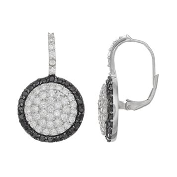 Sophie Miller Sterling Silver Cubic Zirconia Halo Drop Earrings