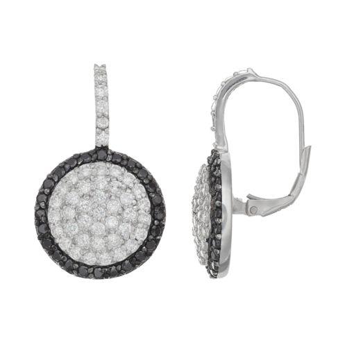 Sophie MillerSterling Silver Cubic Zirconia Halo Drop Earrings