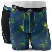 Men's adidas 2-Pack climalite Graphic Midway Boxer Briefs