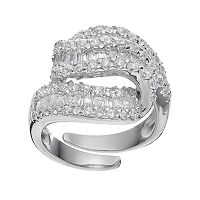 Sophie Miller Sterling Silver Cubic Zirconia Twist Ring